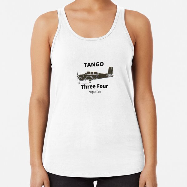 Beech T-34 Fan for airplane and warbird lovers Racerback Tank Top