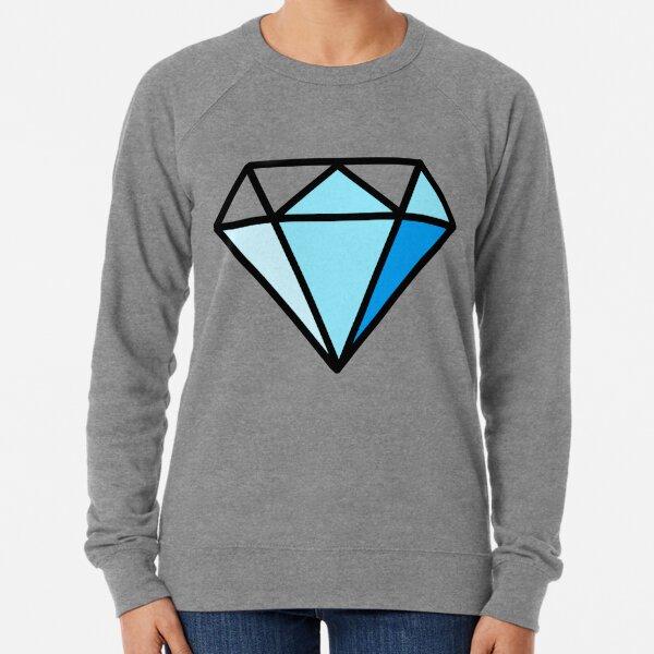Blaues T-Shirt mit Diamand-Print Leichter Pullover