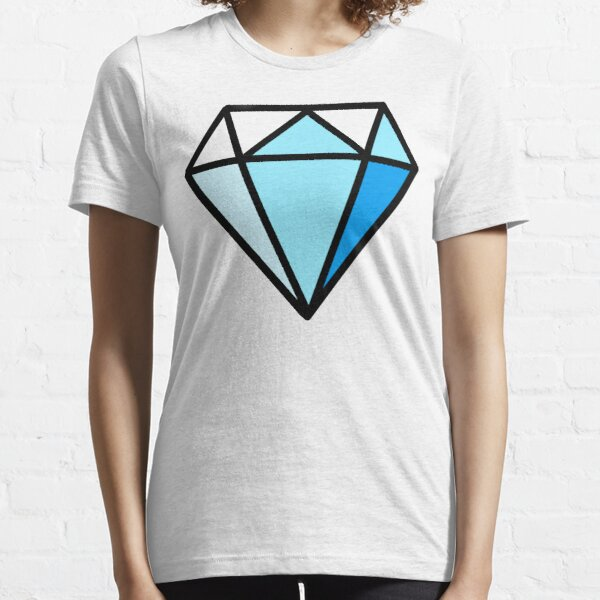 Blaues T-Shirt mit Diamand-Print Essential T-Shirt