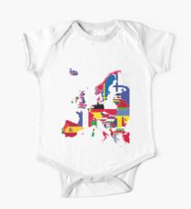 Europe map flags One Piece - Short Sleeve