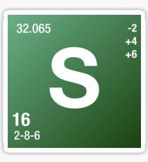 Element Sulphur Sticker