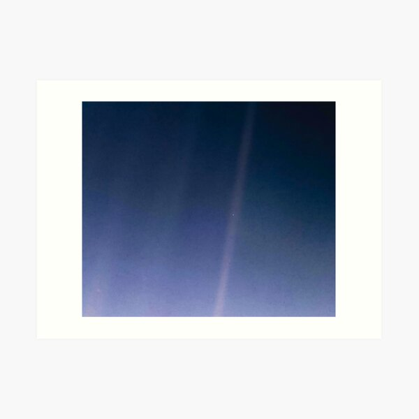 Pale Blue Dot. Voyager 1's image of Planet Earth from 6 billion kilometers. Art Print