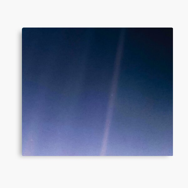 Pale Blue Dot. Voyager 1's image of Planet Earth from 6 billion kilometers. Canvas Print