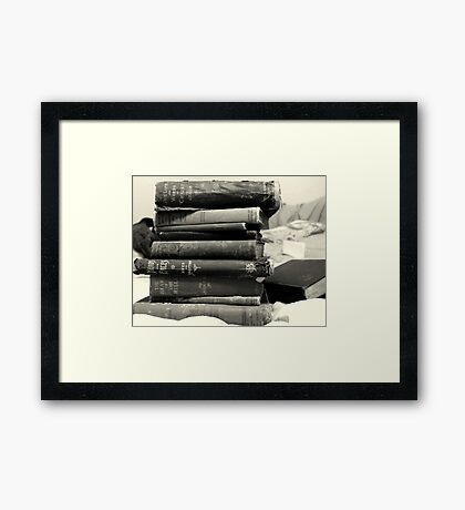Books of a Certain Age Framed Print