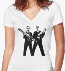 Men in Black Women's Fitted V-Neck T-Shirt