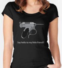 Men in Black mini Gun Women's Fitted Scoop T-Shirt