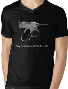 Men in Black mini Gun Mens V-Neck T-Shirt