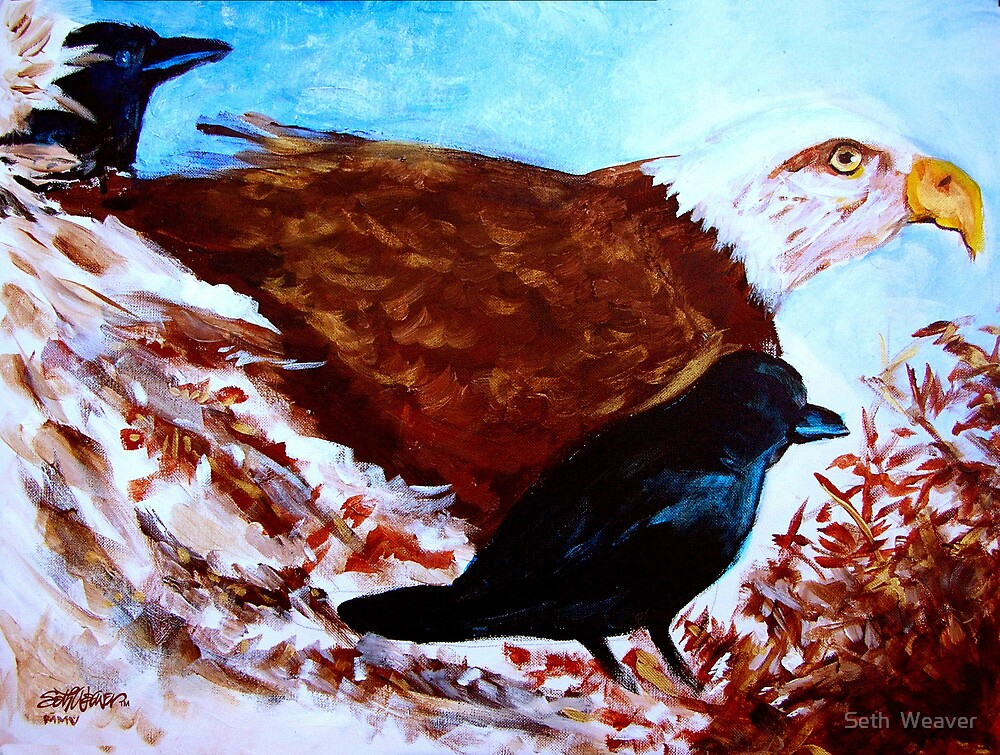 Eagle and Ravens by Seth  Weaver