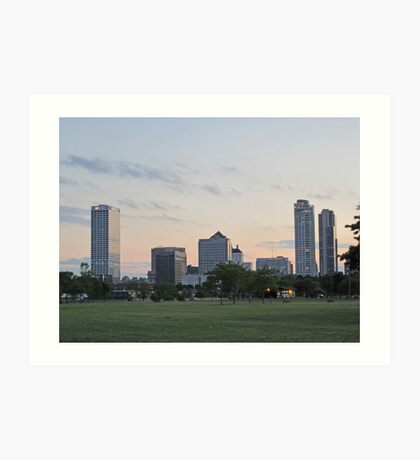 Daylight Milwaukee Skyline Art Print