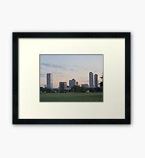 Daylight Milwaukee Skyline Framed Print