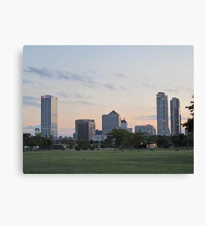 Daylight Milwaukee Skyline Canvas Print