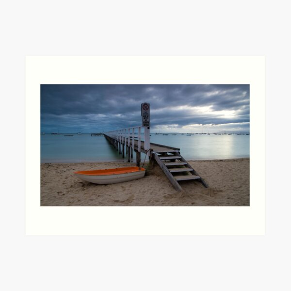 The Baths Jetty Sorrento Front Beach Art Print
