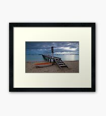 The Baths Jetty Sorrento Front Beach Framed Print