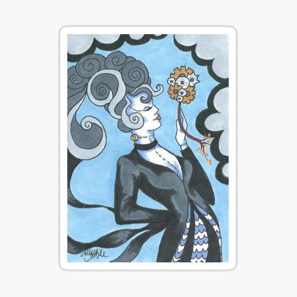 Art Deco Bride of Frankenstein Sticker