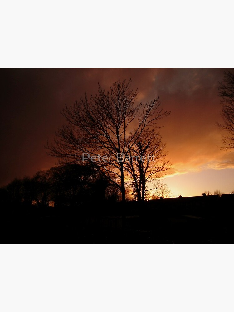 Evening Fire Sunset by hartrockets