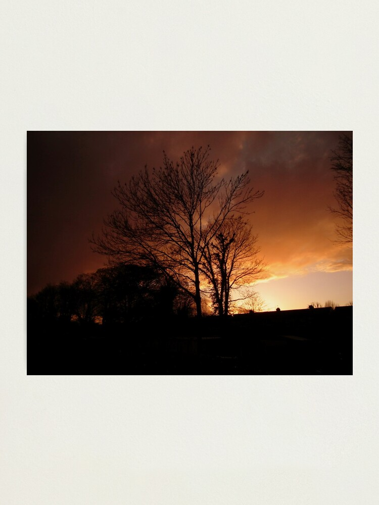 Alternate view of Evening Fire Sunset Photographic Print