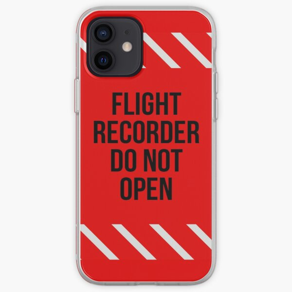 Flight Recorder Ne pas ouvrir Coque souple iPhone