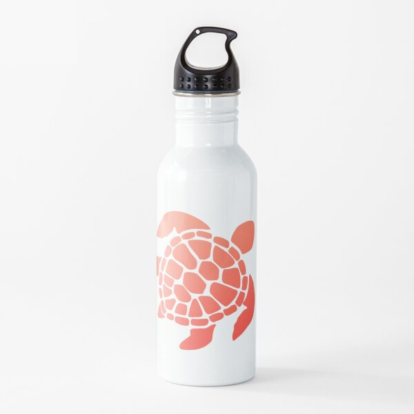Red Ombre Turtle Water Bottle