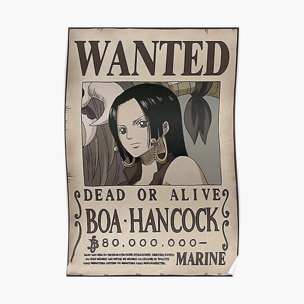 One piece Wanted - Boa Hancock Poster