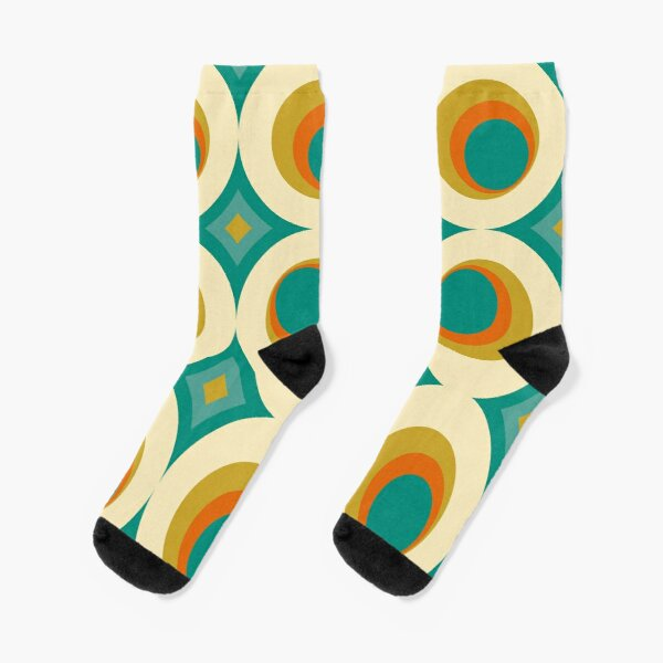Mid-Century Modern Splash Socks