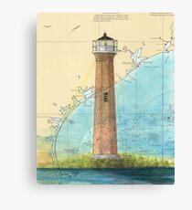 Aransas Pass Lighthouse TX Nautical Map Cathy Peek Canvas Print