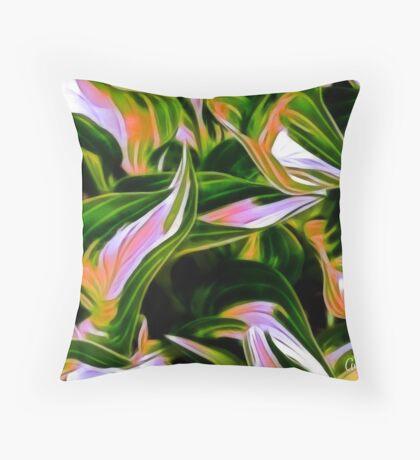 Fractalius Hosta Throw Pillow