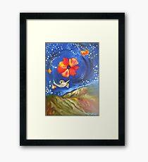 Heron-Otter on Wind, Night Sky Pfeiffer Beach Framed Print