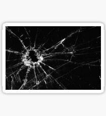 Broken Glass print Sticker