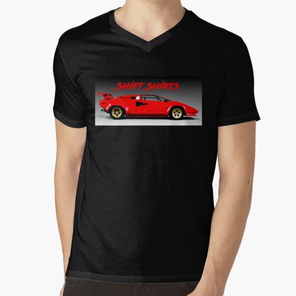 Fast When Still - Lambo Countach V-Neck T-Shirt