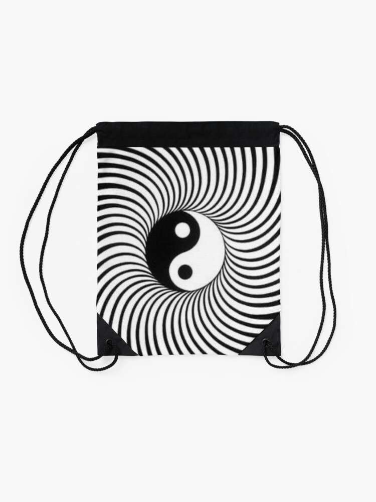 Alternate view of Yin and Yang Drawstring Bag