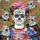 Frida De Los Muertos by marksatchwillart