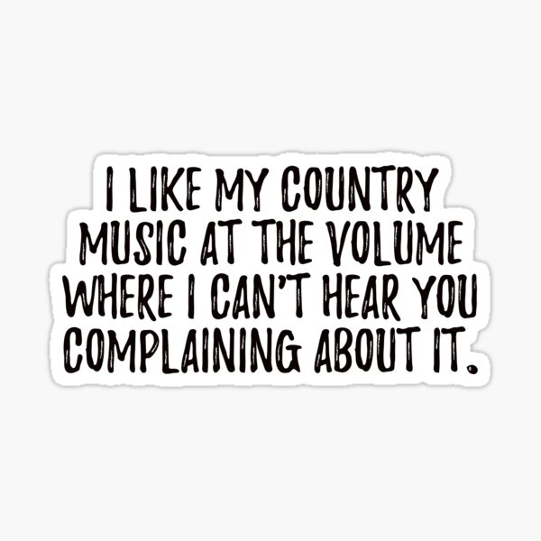 Country Music  Sticker