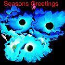Blue Poppy greetings by George Hunter