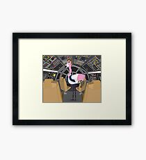 Flamingo Han Framed Print