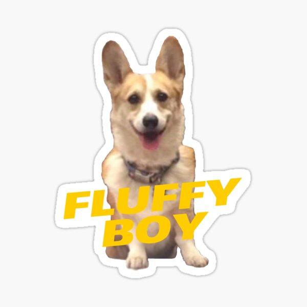 Fluffy Boy Cheddar Glossy Sticker