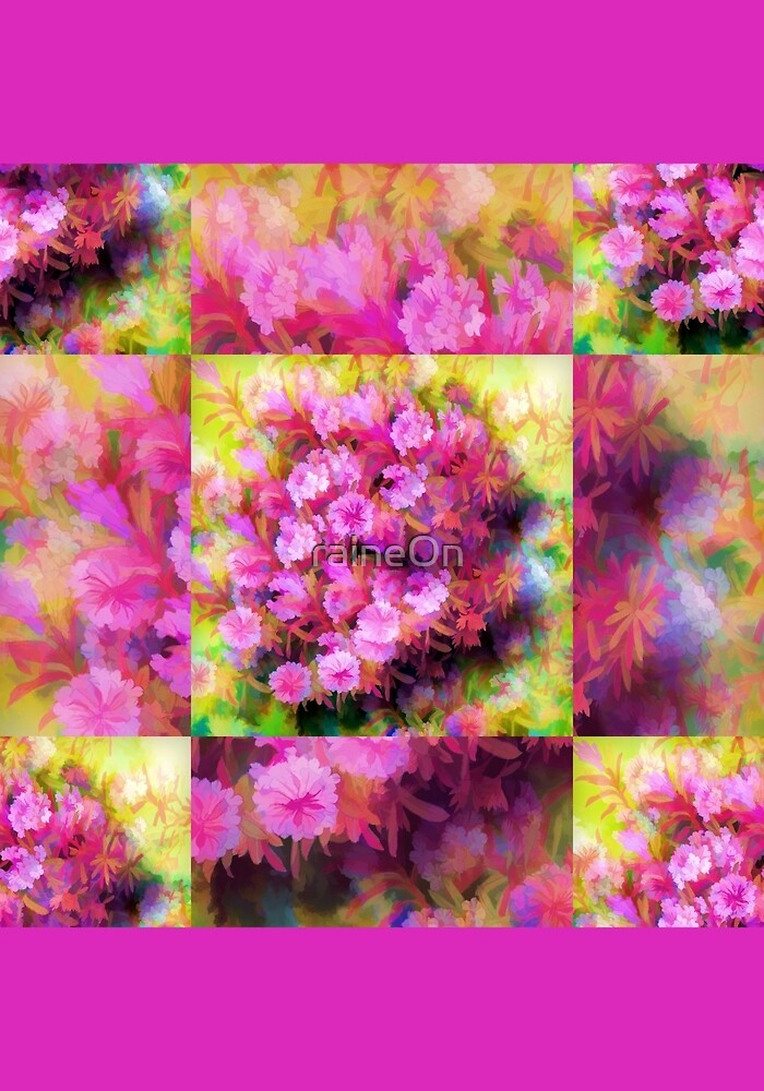 Touch Of Pink Flowers  by raineOn