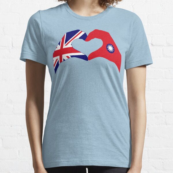 We Heart UK & Taiwan Patriot Flag Series Essential T-Shirt