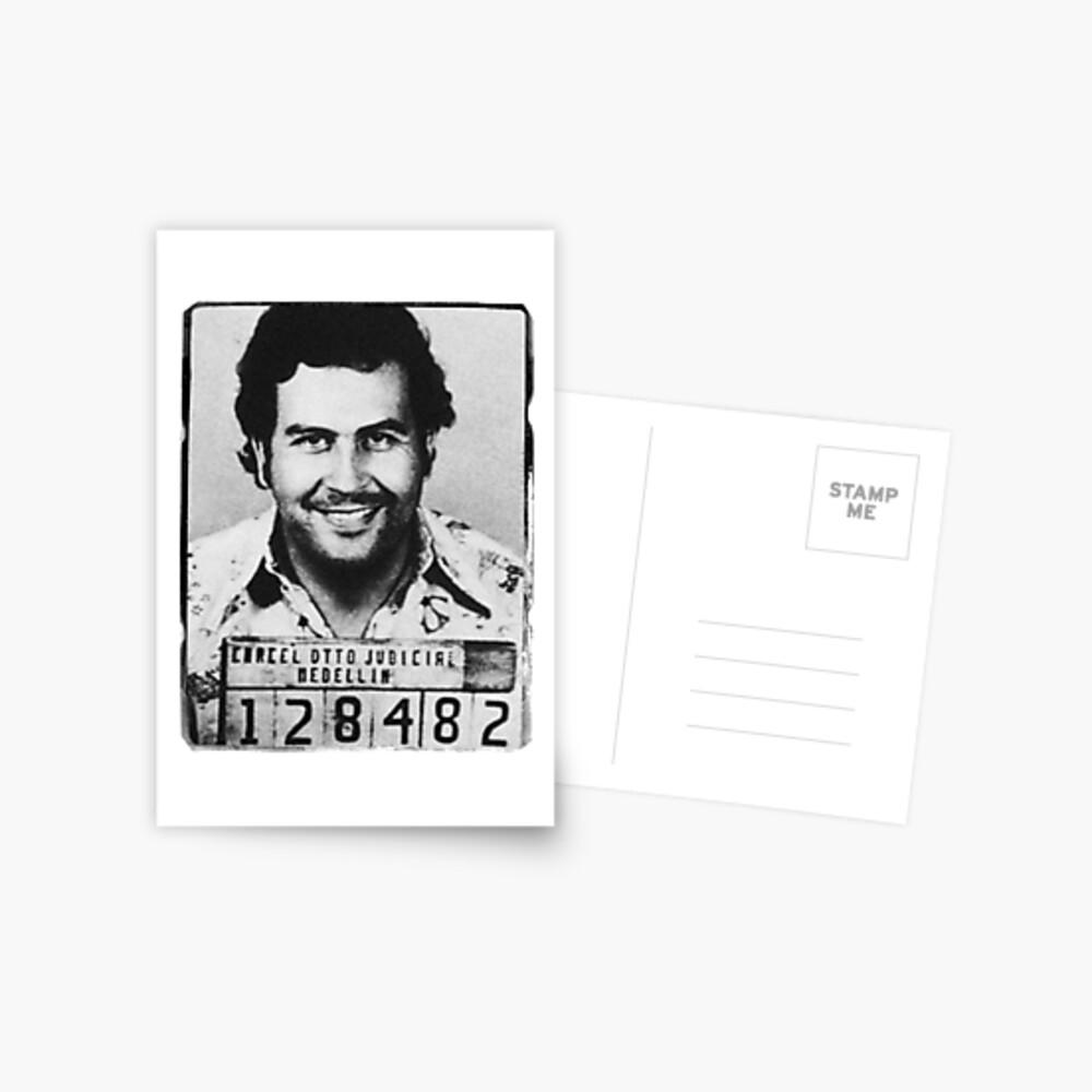 Escobar Mugshot Postkarte