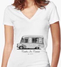 Castles Ice Cream est. 1843 Women's Fitted V-Neck T-Shirt