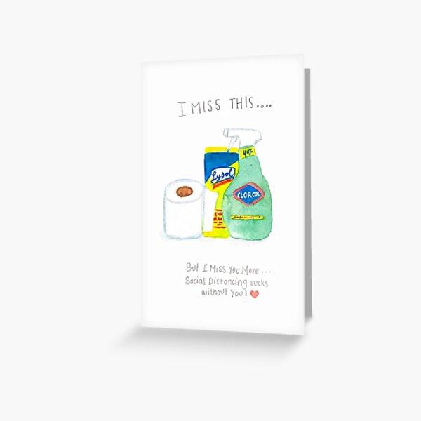Covid-19 Pun card, carte drôle de distanciation sociale Carte de vœux