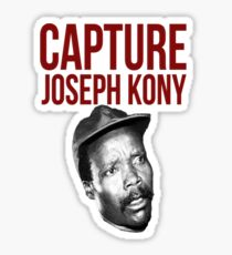 "Kony T-Shirt - ""Capture Kony"" Sticker"