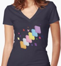 My Little Pony - Mane Six Abstraction II Women's Fitted V-Neck T-Shirt