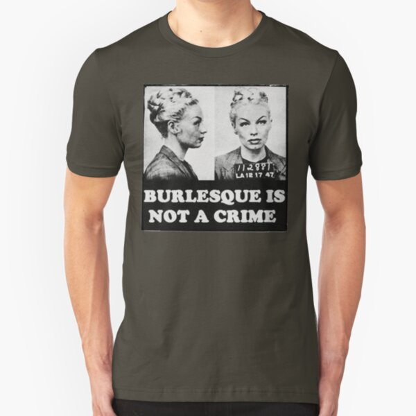 Burlesque Mugshot Slim Fit T-Shirt