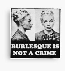 Burlesque Mugshot Canvas Print