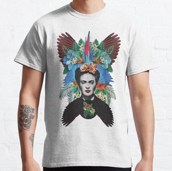 Plumes colorées de Frida Kahlo T-shirt classique