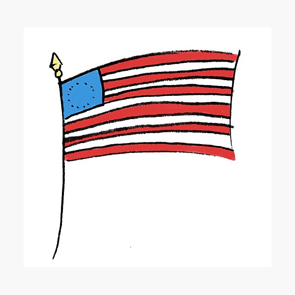 Betsy Ross American Flag Photographic Print