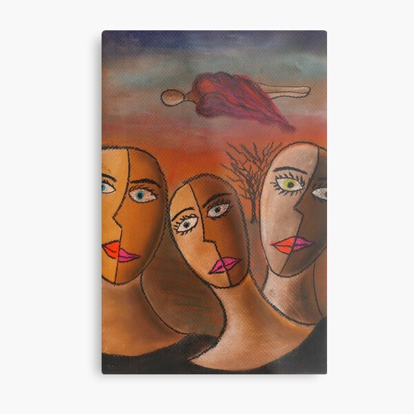 Three Sisters Dream | Pastel on Paper | Anything Box Peace Era Study for a Single Metal Print