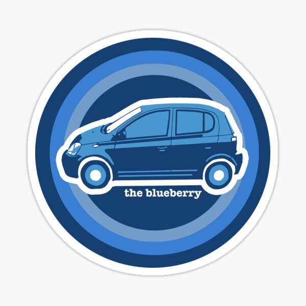 Psychedelic Psych Blueberry (Circle) Sticker