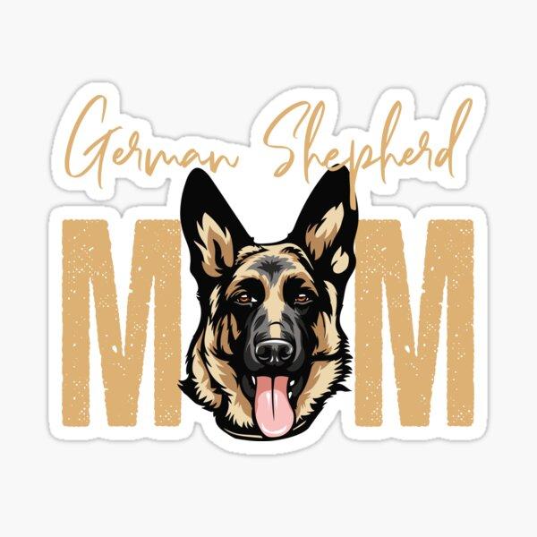 German Shepherd Mom, Dog Mom Shirt, Gift idea for German Shepherd owner, Slim Fit T-Shirt Sticker