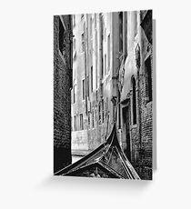 Back Street Gondola Greeting Card